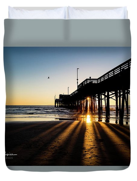 Rays Of Evening Duvet Cover