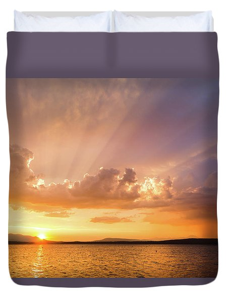 Rays Of Hope Duvet Cover