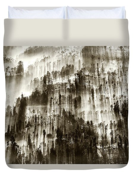 Duvet Cover featuring the photograph Rays Of Light by Pradeep Raja Prints