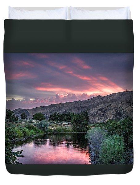 Rays Of Sunset Duvet Cover
