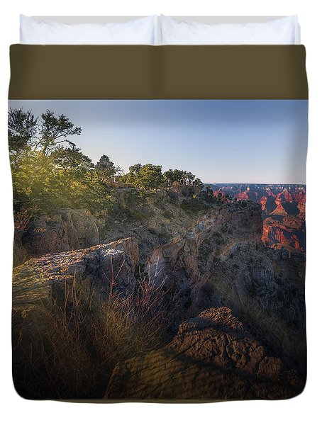 Rays Over The Canyon  Duvet Cover