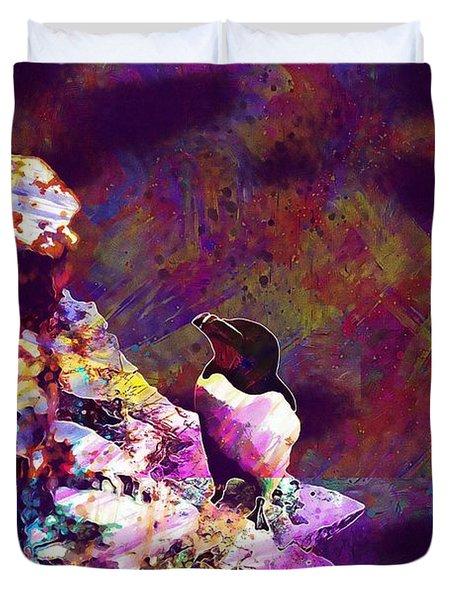 Razorbill Bird Wildlife Animal  Duvet Cover
