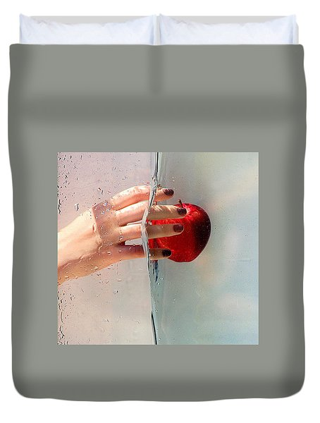 Reach For The Apple Duvet Cover