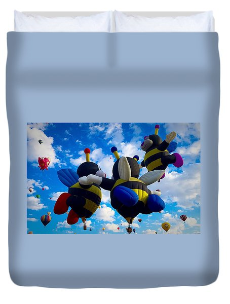 Hot Air Balloon Cheerleaders Duvet Cover