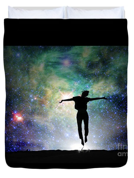 Duvet Cover featuring the photograph Reach For The Stars by Delphimages Photo Creations