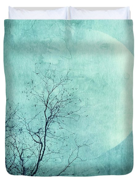 Reach For The Moon Duvet Cover