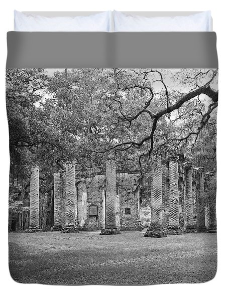 Reaching For The Ruins Duvet Cover