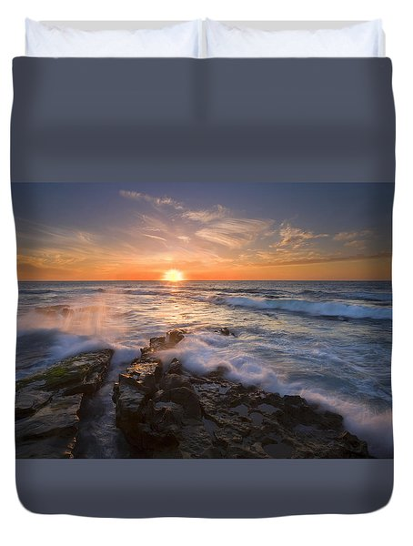 Reaching For The Sun Duvet Cover by Mike  Dawson