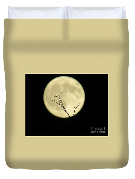 Reaching Out Into The Night Duvet Cover