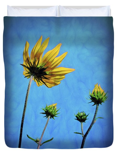 Reaching Skyward Duvet Cover by Sue Melvin
