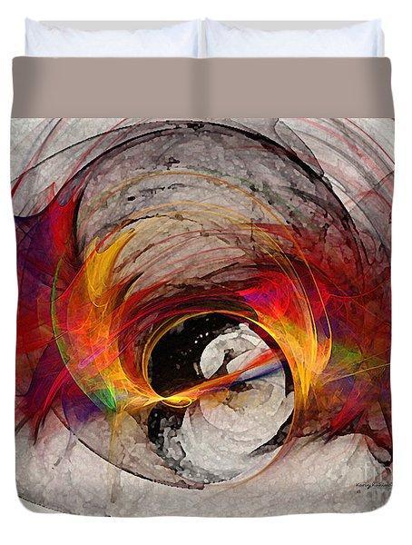 Reaction Abstract Art Duvet Cover
