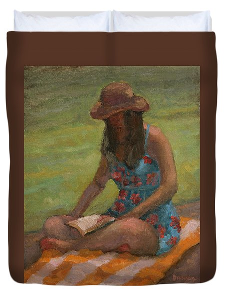 Reading At Jersey Valley Duvet Cover