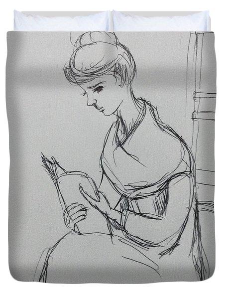 Reading Book Duvet Cover