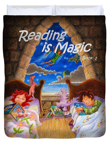 Reading Is Magic Duvet Cover by Matt Konar