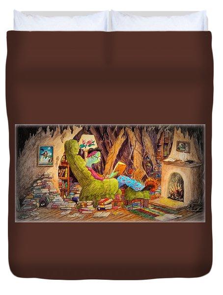 Reading Is Magic Pg 1 Duvet Cover by Matt Konar