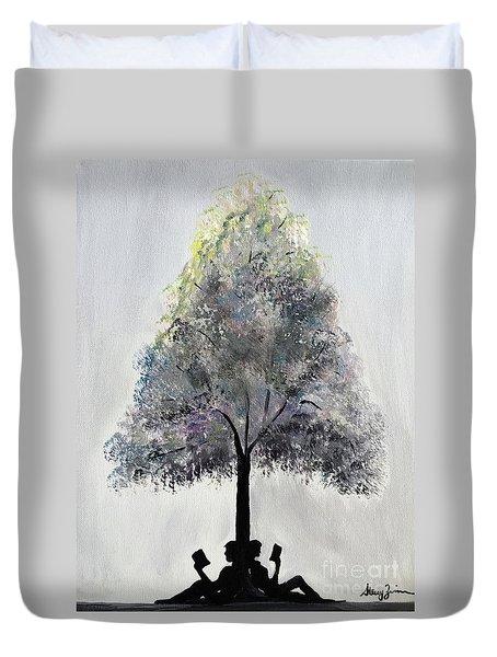 Reading Tree Duvet Cover