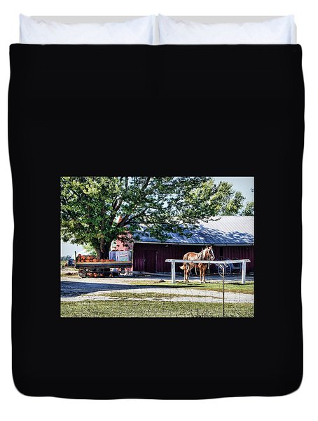 Duvet Cover featuring the photograph Ready And Waiting by Cricket Hackmann