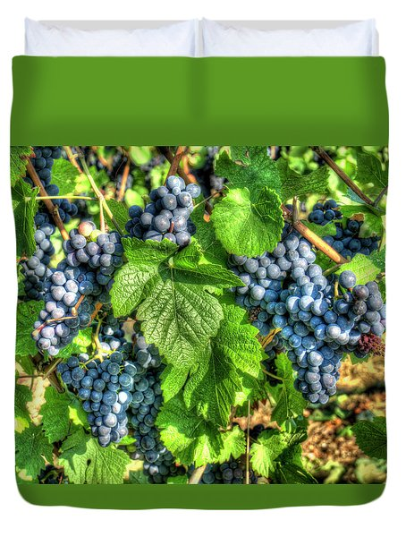 Duvet Cover featuring the photograph Ready For Harvest by Alan Toepfer