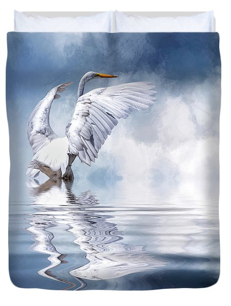Ready For Take Off Duvet Cover by Cyndy Doty