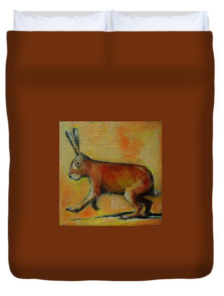 A Good Hare Day Duvet Cover by Jean Cormier