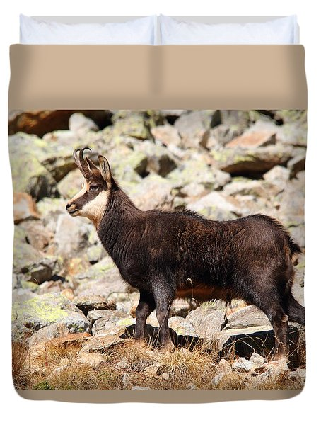 Duvet Cover featuring the photograph Ready For The Challenge by Richard Patmore