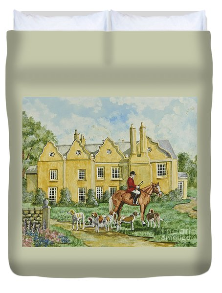 Ready For The Hunt Duvet Cover by Charlotte Blanchard