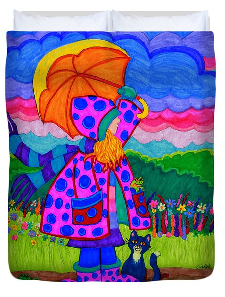 Ready For The Rain Duvet Cover by Nick Gustafson