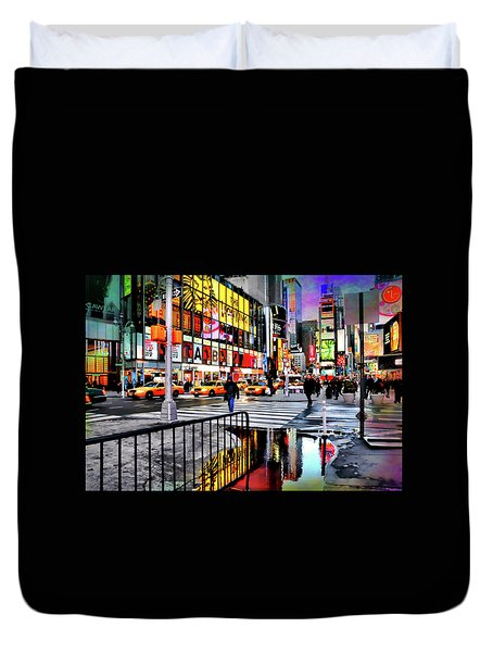 Duvet Cover featuring the photograph Ready Or Not by Diana Angstadt