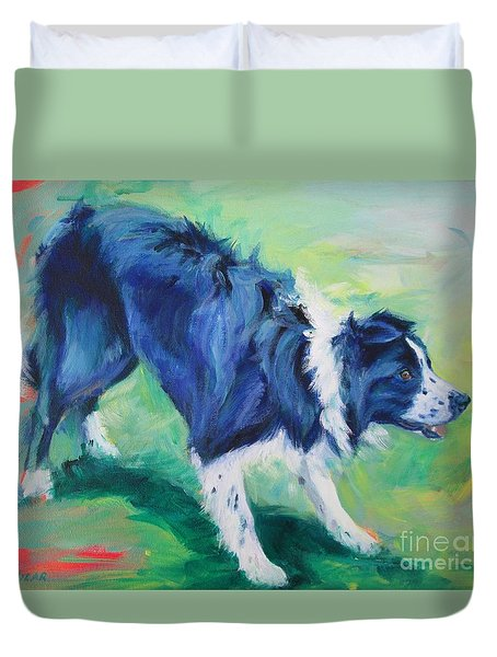 Ready To Fly - Border Collie Duvet Cover