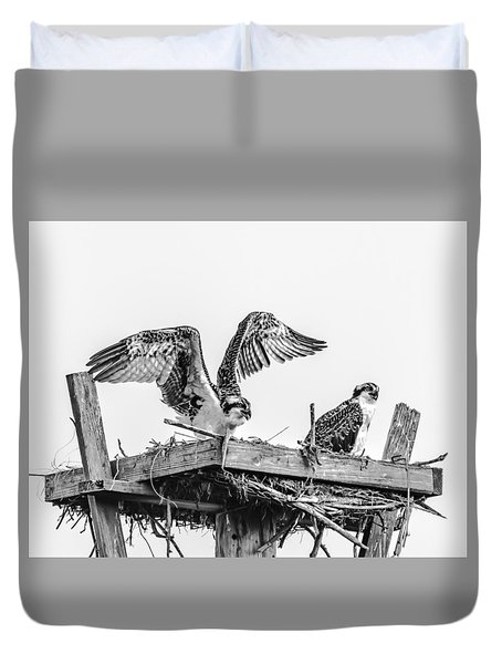 Ready To Fly Bw Duvet Cover