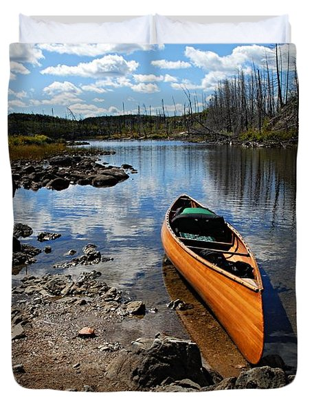 Ready To Paddle Duvet Cover by Larry Ricker