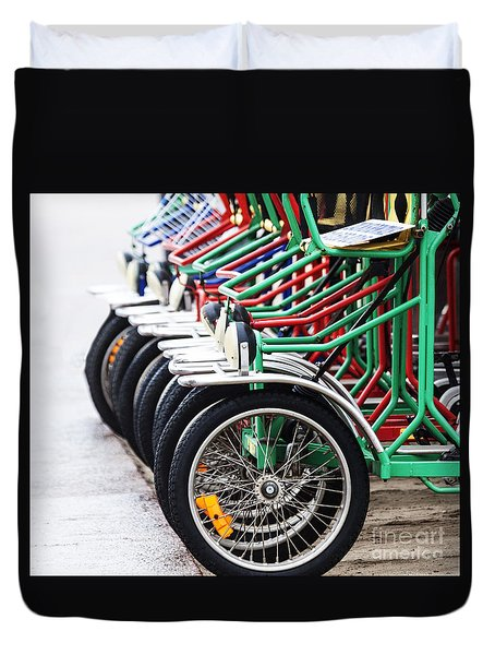 Duvet Cover featuring the photograph Ready To Ride by Ruth Jolly