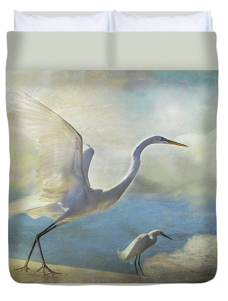 Duvet Cover featuring the digital art Ready To Soar by Nicole Wilde