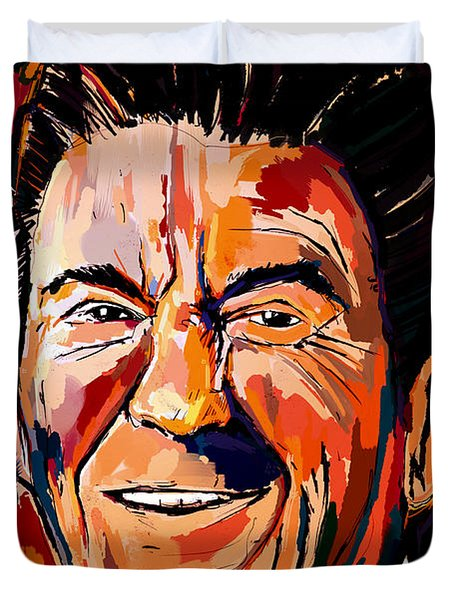 Reagan Revisited Duvet Cover