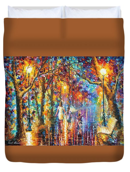 Real Dreams   Duvet Cover by Leonid Afremov