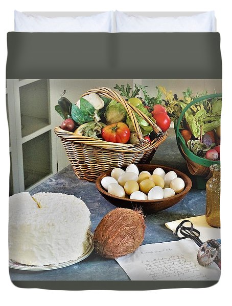 Real Food Duvet Cover
