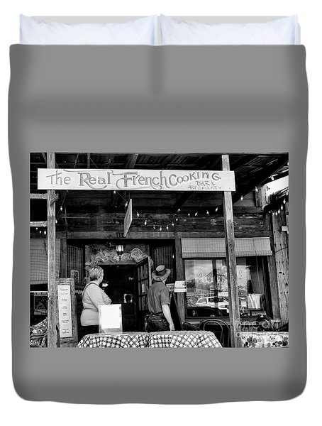 Real French Cooking Louisiana Restaurant  Duvet Cover