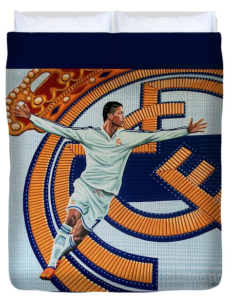 Real Madrid Painting Duvet Cover