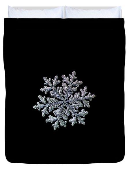 Real Snowflake - Hyperion Black Duvet Cover
