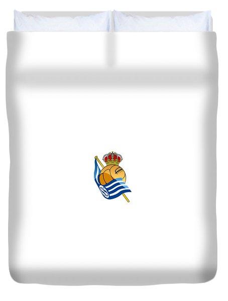 Real Sociedad De Futbol Sad Duvet Cover by David Linhart