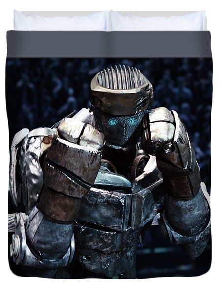 Real Steel Atom Duvet Cover