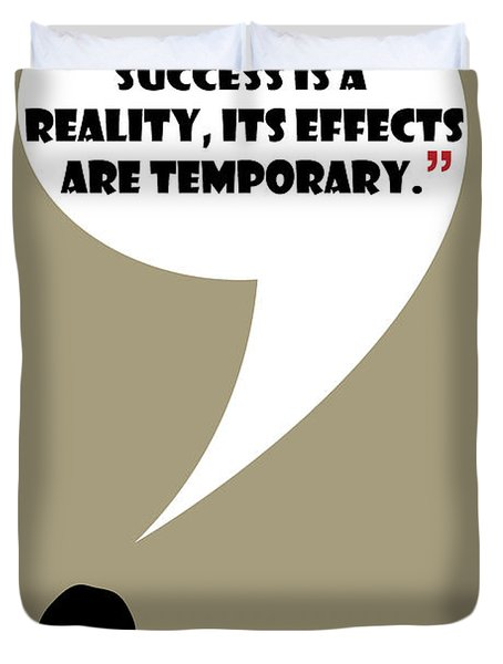 Reality Of Success - Mad Men Poster Don Draper Quote Duvet Cover