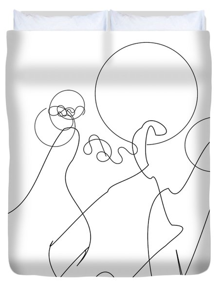 Really Loose Drawing 2 Duvet Cover