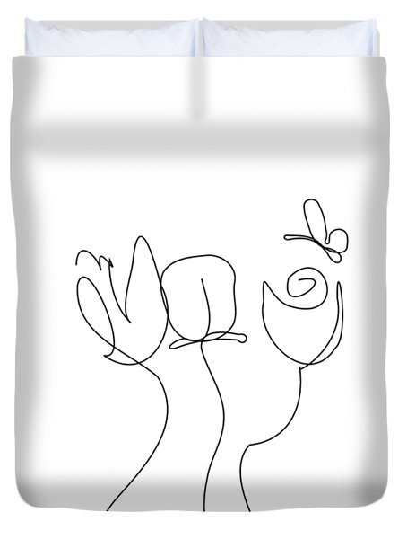 Really Loose Drawing  Duvet Cover