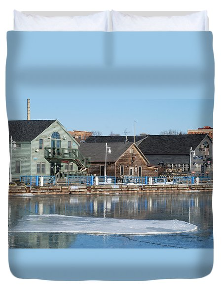Remains Of The Old Fishing Village Duvet Cover