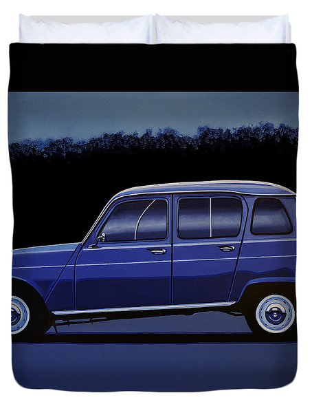 Renault 4 1961 Painting Duvet Cover