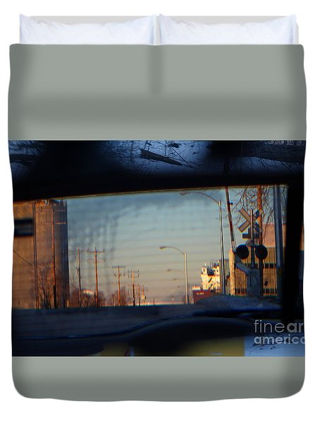 Rear View 2 - The Places I Have Been Duvet Cover by David Blank