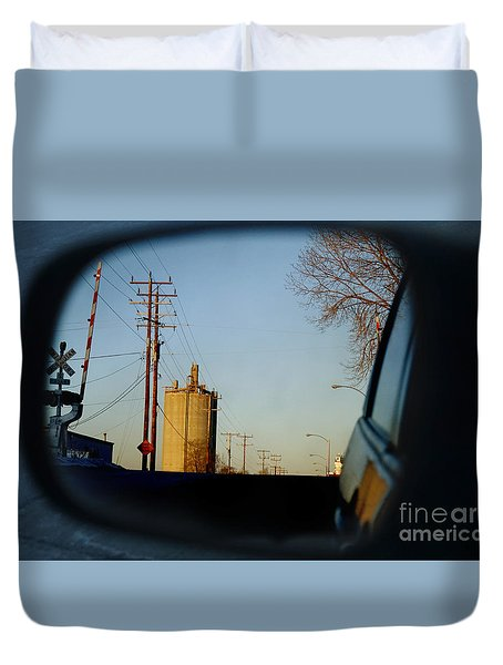 Rear View - The Places I Have Been Duvet Cover by David Blank