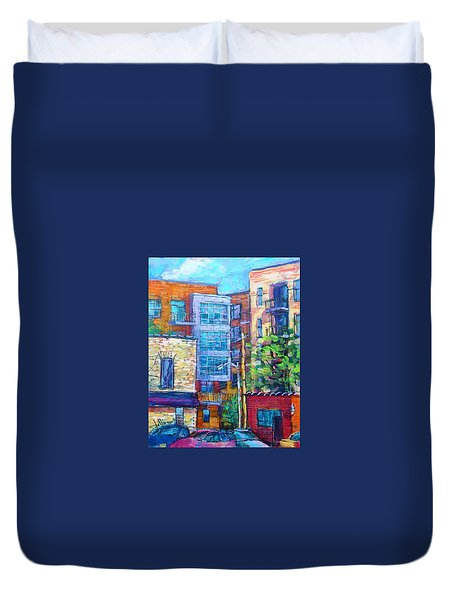 Rear Windows Duvet Cover