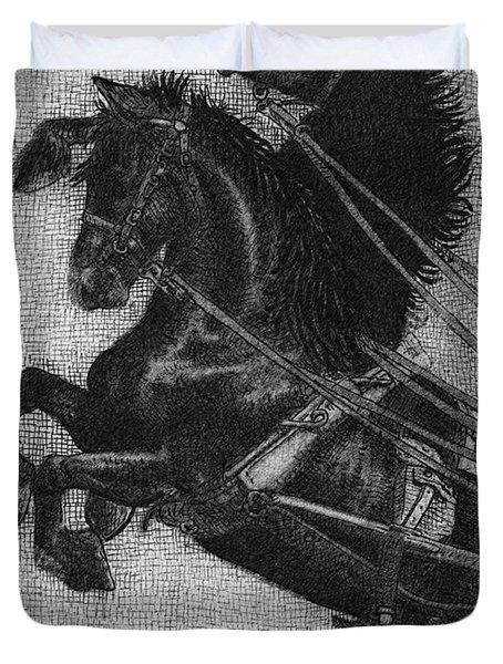 Rearing Horses Duvet Cover